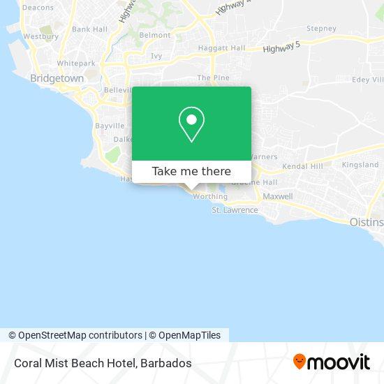 Coral Mist Beach Hotel map