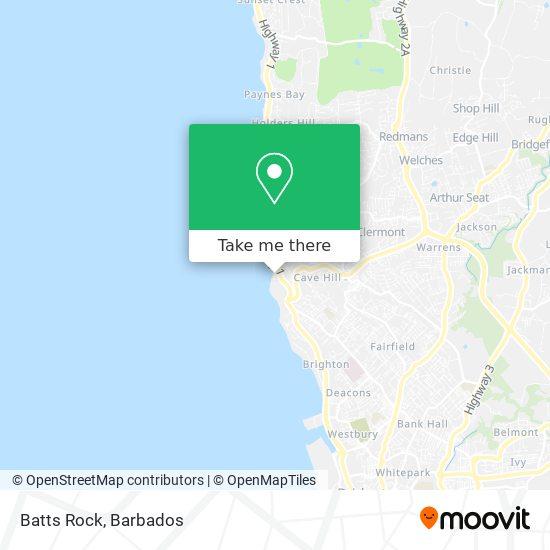 Batts Rock map
