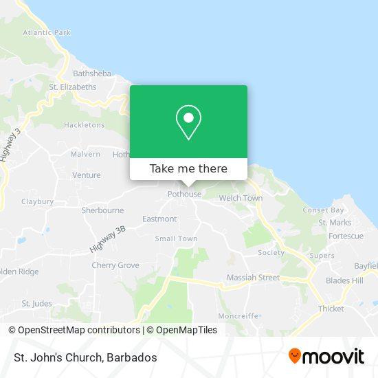 St. John's Church map