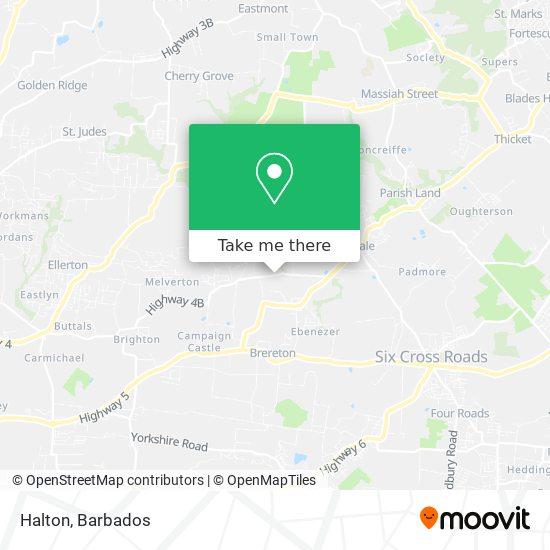 Halton map