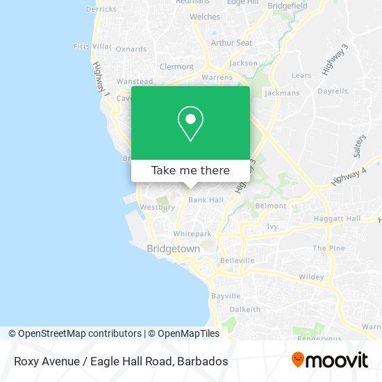 Roxy Avenue / Eagle Hall Road map