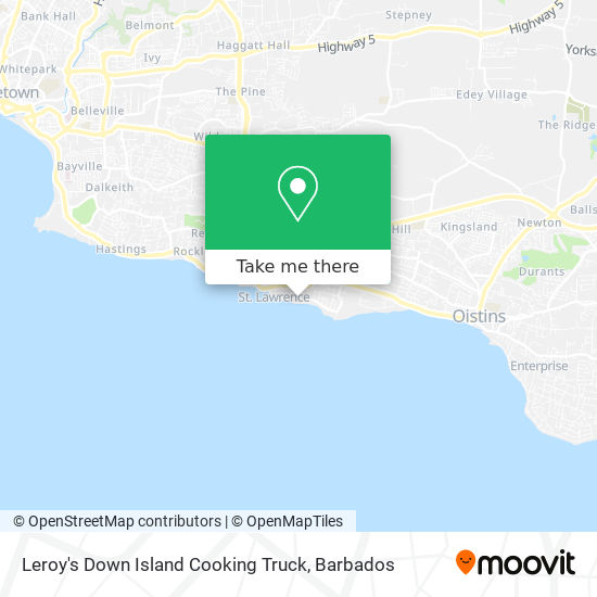 Leroy's Down Island Cooking Truck map