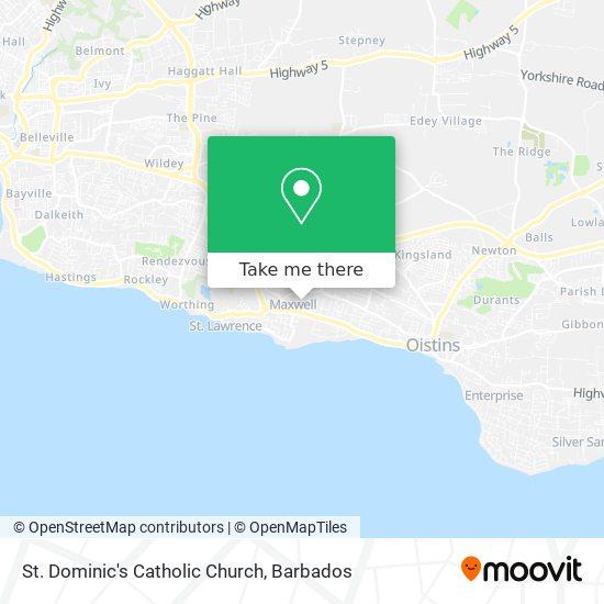 St. Dominic's Catholic Church map
