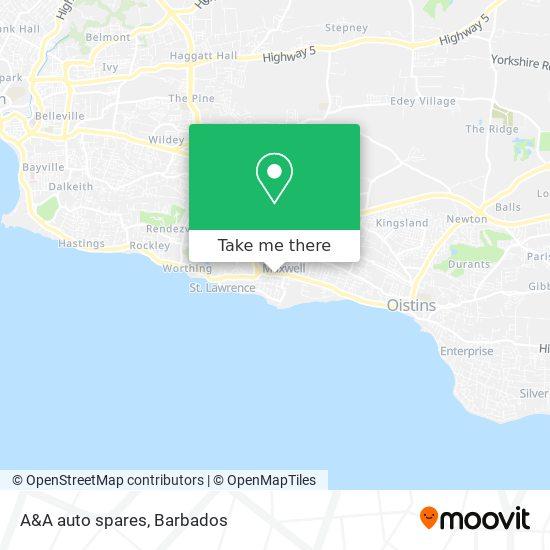 A&A auto spares map