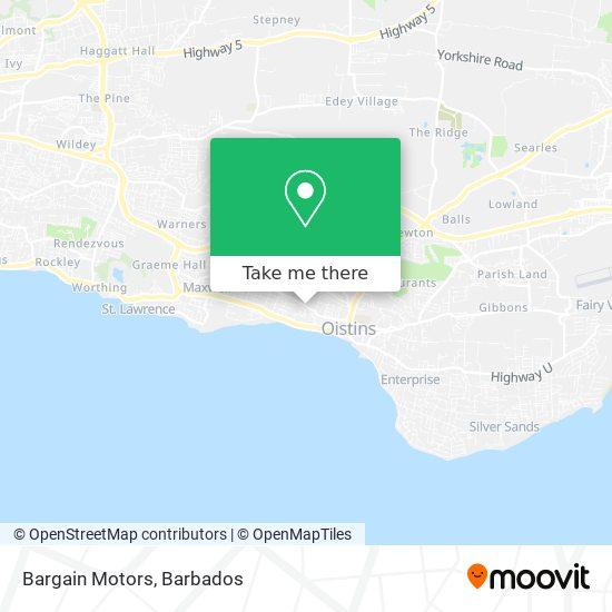 Bargain Motors map