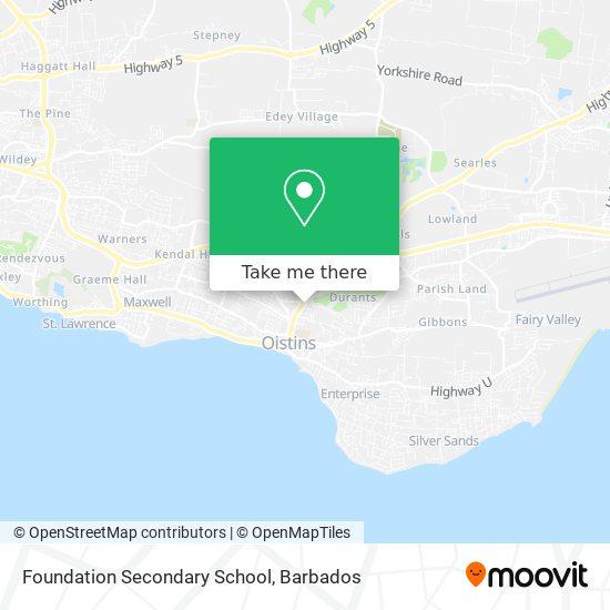 Foundation Secondary School map