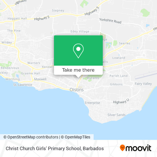 Christ Church Girls' Primary School map