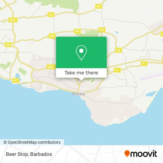 Beer Stop map