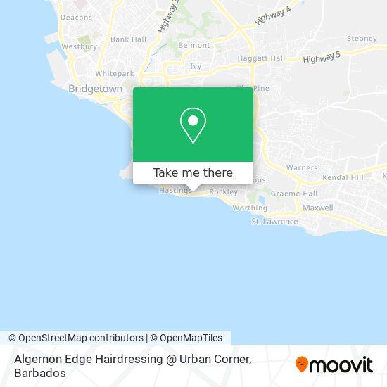 Algernon Edge Hairdressing @ Urban Corner map