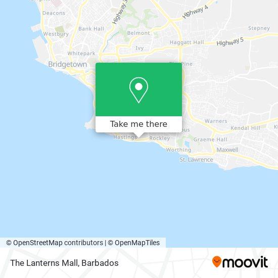 The Lanterns Mall map