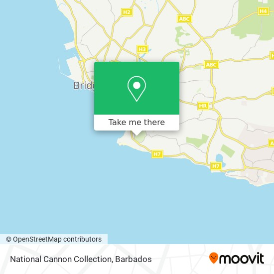 National Cannon Collection map