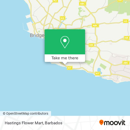 Hastings Flower Mart map