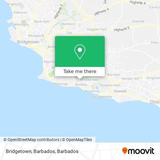 Bridgetown, Barbados map