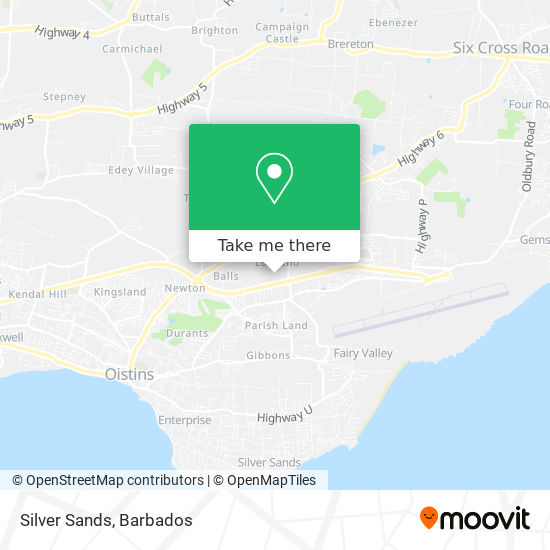 Silver Sands map