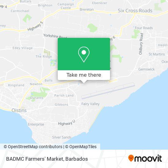 BADMC Farmers' Market map