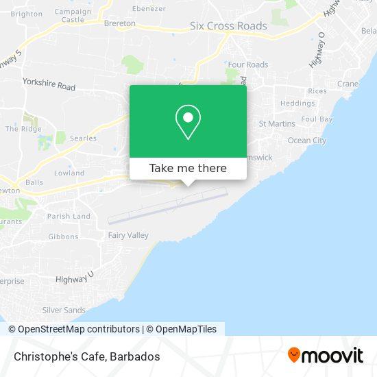 Christophe's Cafe map