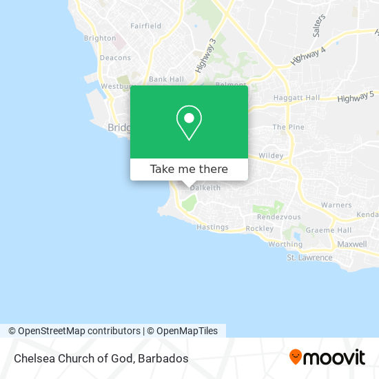 Chelsea Church of God map