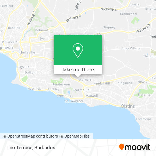 Tino Terrace map