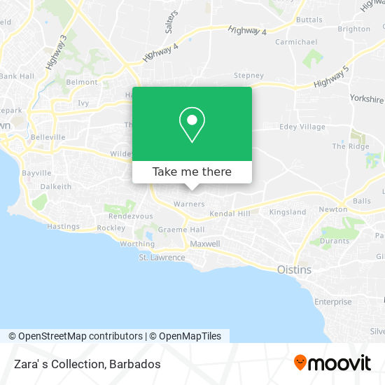 Zara' s Collection map