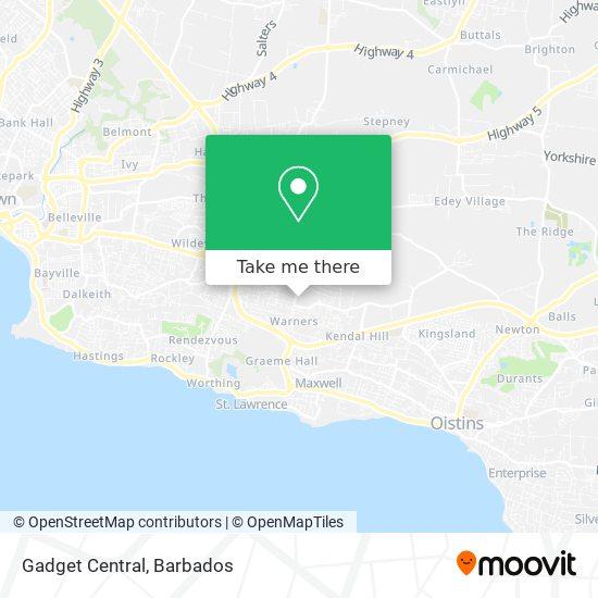 Gadget Central map