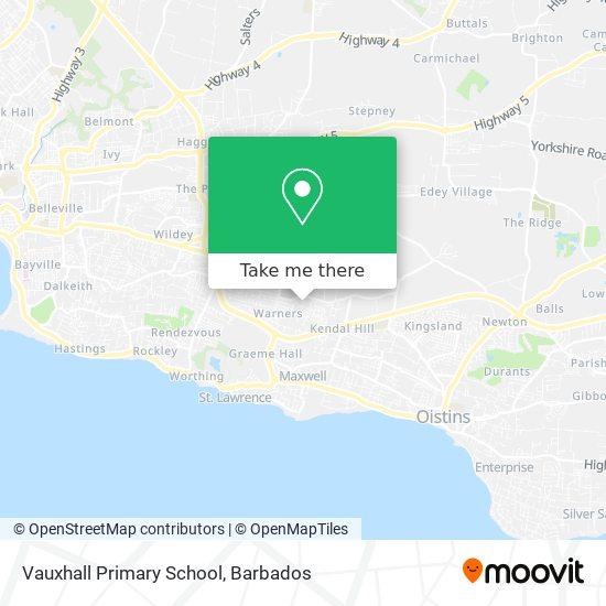 Vauxhall Primary School map