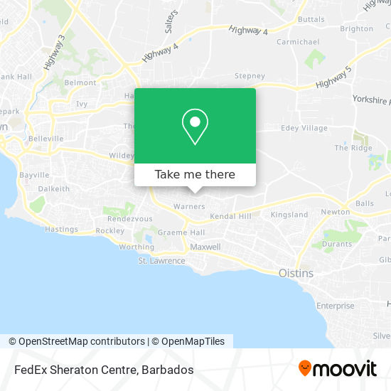 FedEx Sheraton Centre map