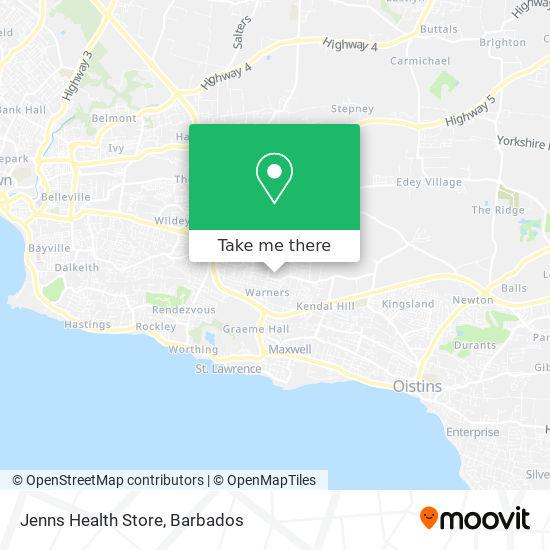 Jenns Health Store map