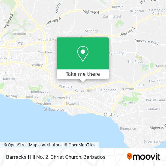 Barracks Hill No. 2, Christ Church map