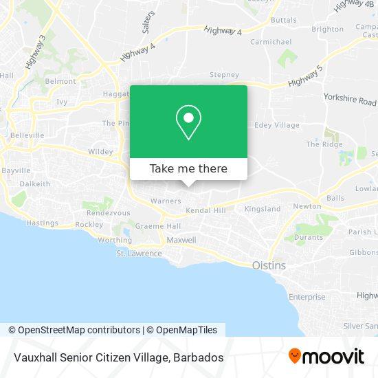 Vauxhall Senior Citizen Village map