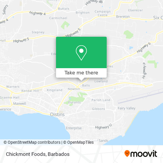 Chickmont Foods map