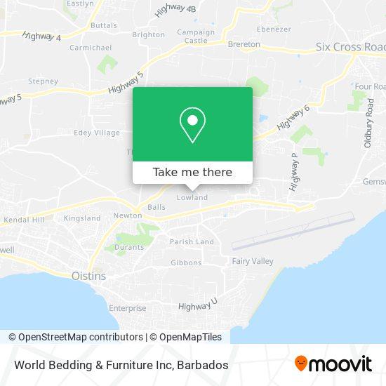 World Bedding & Furniture Inc map