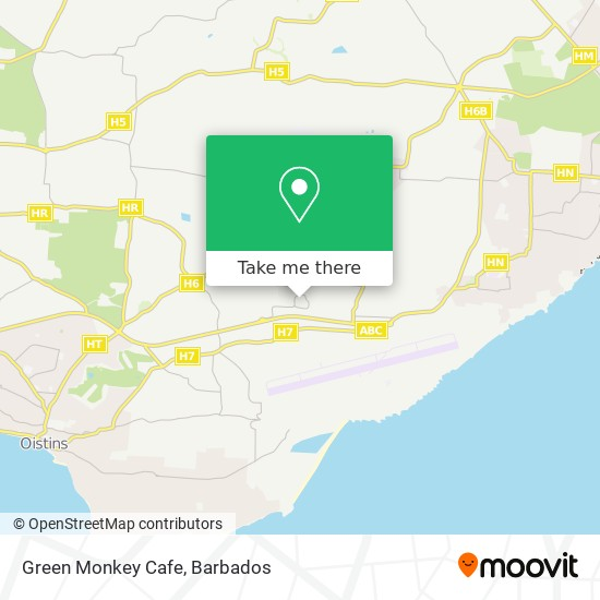 Green Monkey Cafe map