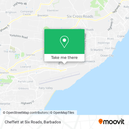 Cheffett at Six Roads map