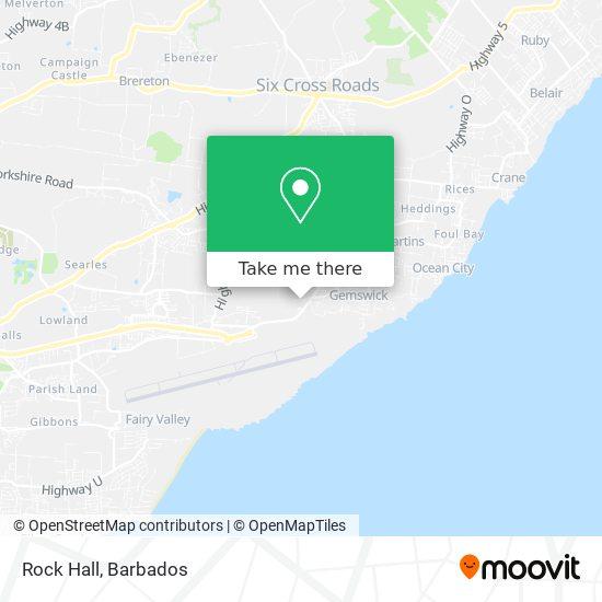 Rock Hall map