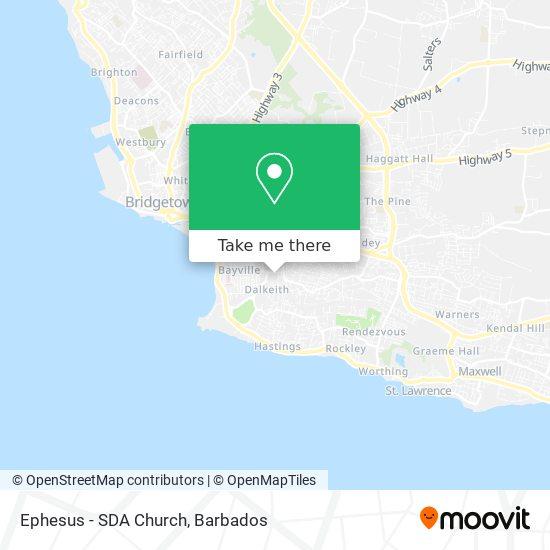 Ephesus - SDA Church map
