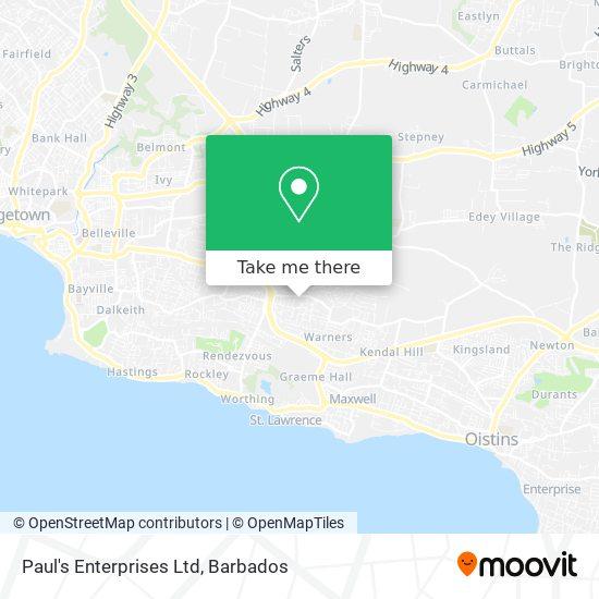 Paul's Enterprises Ltd map