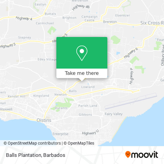 Balls Plantation map