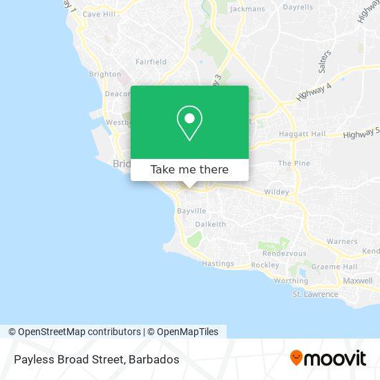 Payless Broad Street map