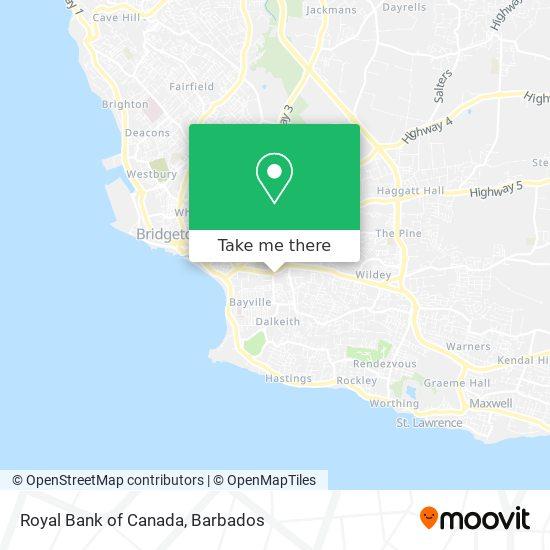 Royal Bank of Canada map