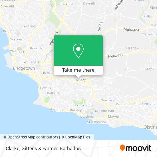 Clarke, Gittens & Farmer map