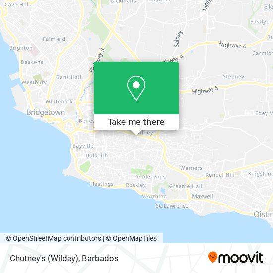 Chutney's (Wildey) map