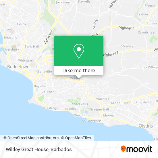 Wildey Great House map