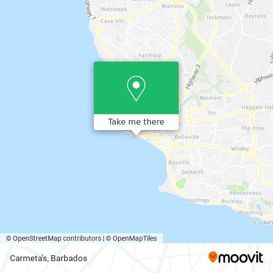 Carmeta's map