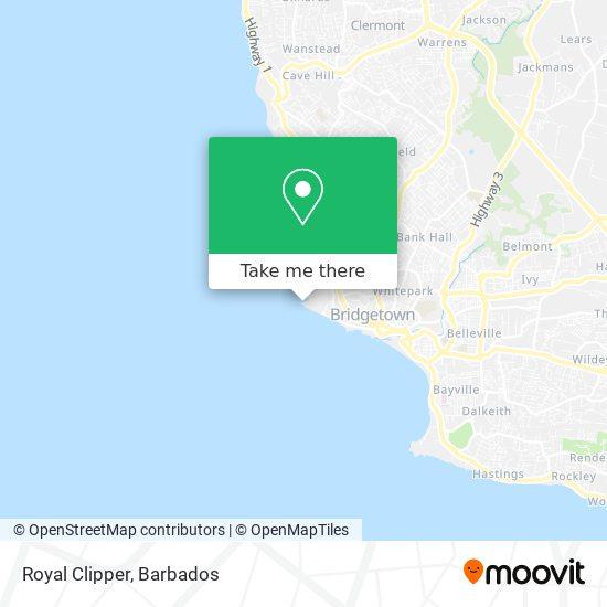 Royal Clipper map