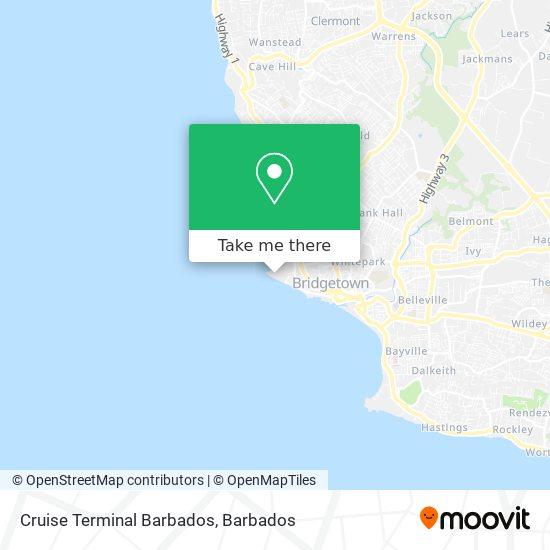 Cruise Terminal Barbados map