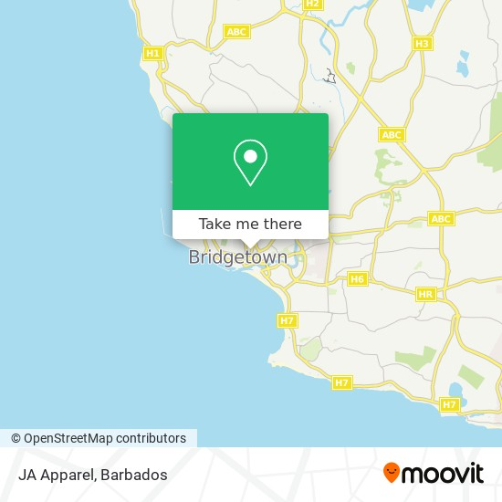 JA Apparel map