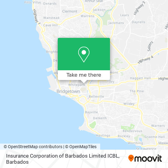 Insurance Corporation of Barbados Limited ICBL map
