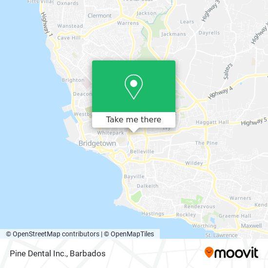 Pine Dental Inc. map