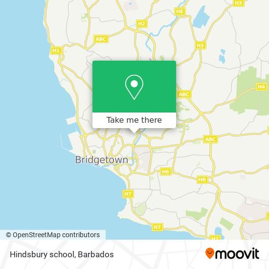 Hindsbury school map