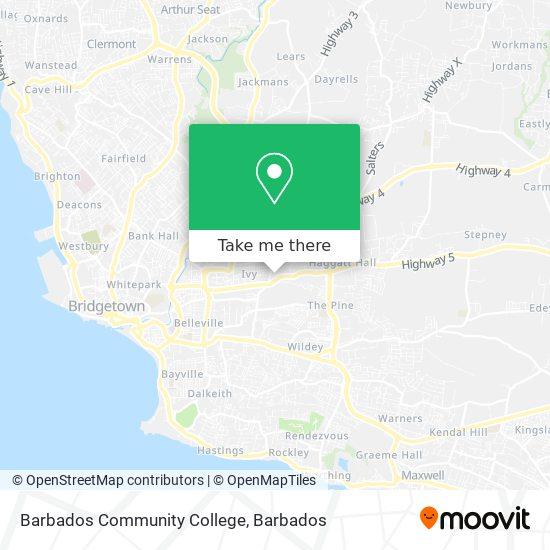 Barbados Community College map